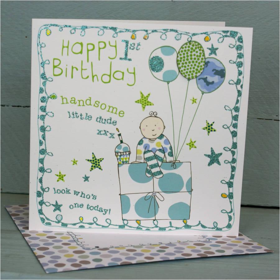 happy 1st birthday card for a boy
