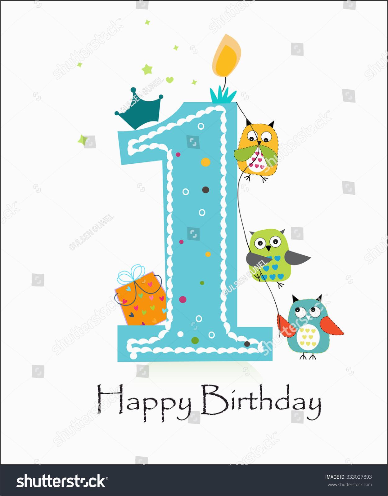 happy first birthday owls baby boy 333027893