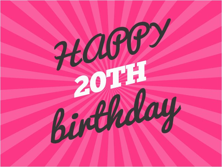 Happy 20th Birthday Cards Birthday Wishes