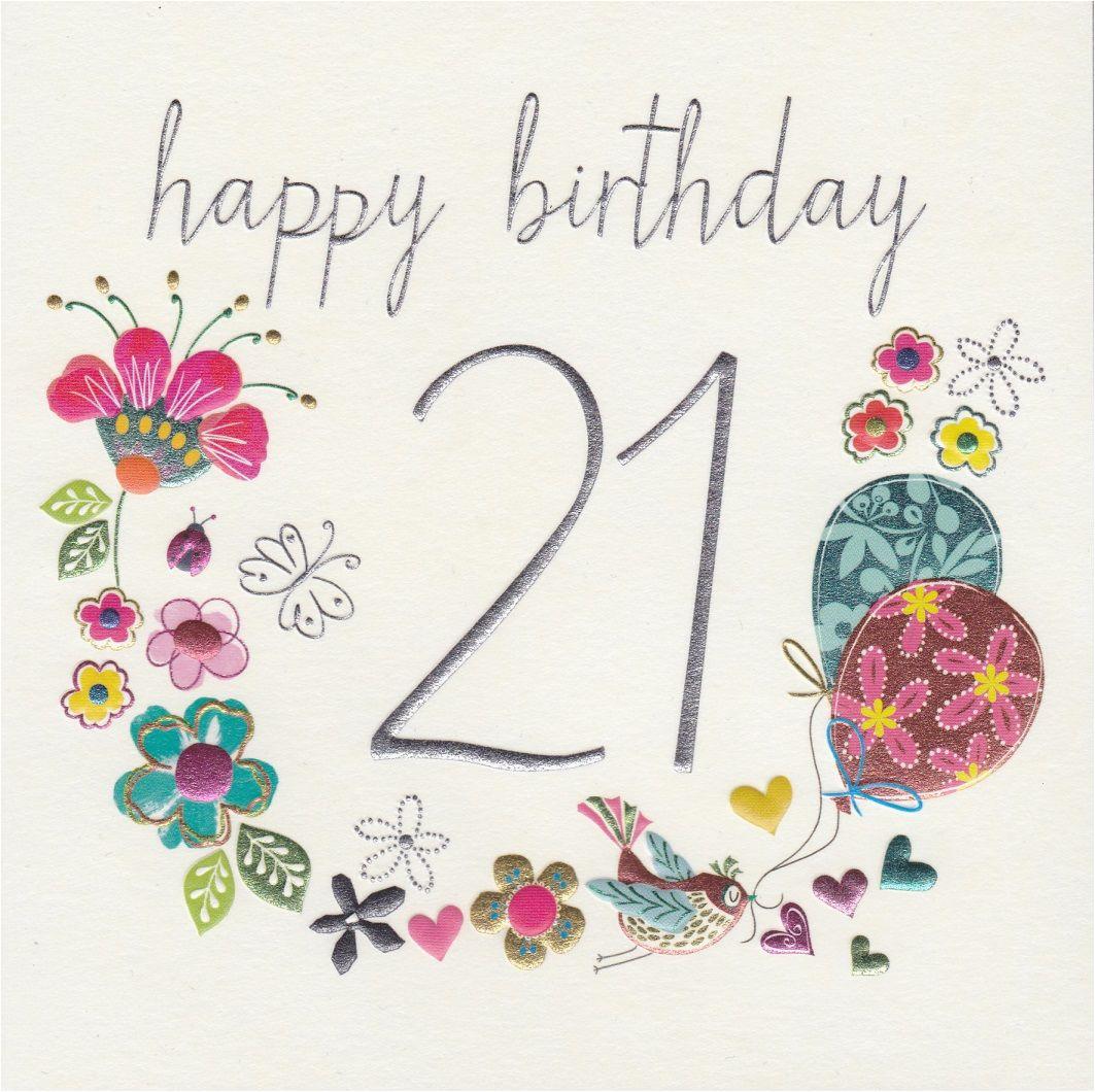 Happy 21st Birthday Flowers Twenty First Quotes Quotesgram