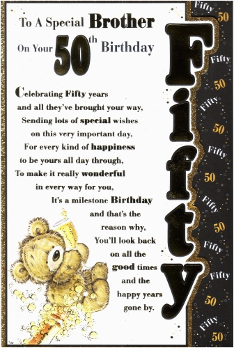 Happy 50th Birthday Brother Cards 40th Ideas For Gift