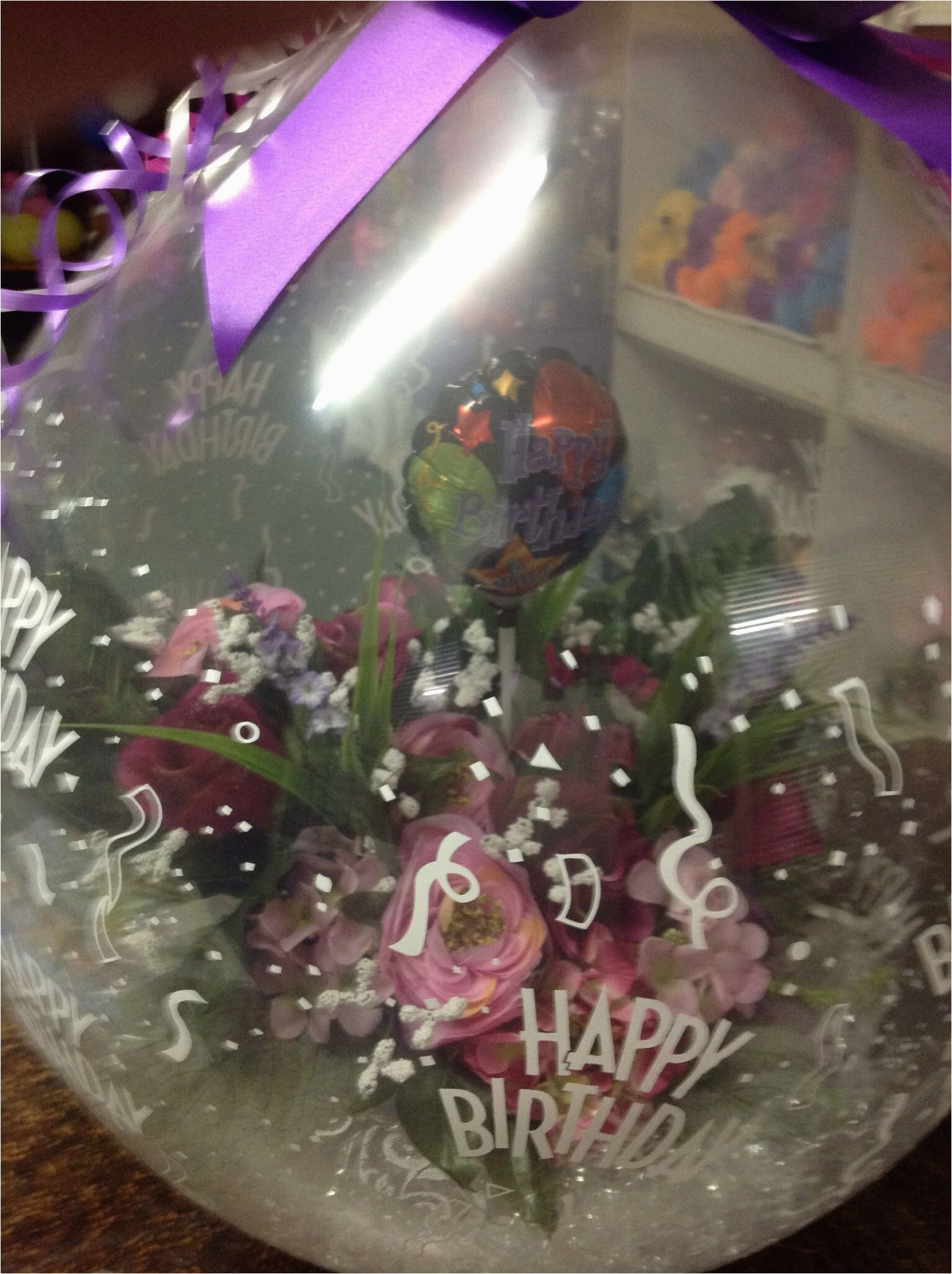 Happy 50th Birthday Flowers 50th Birthday Flower Bouquet Stuffed Balloon Cre8iv