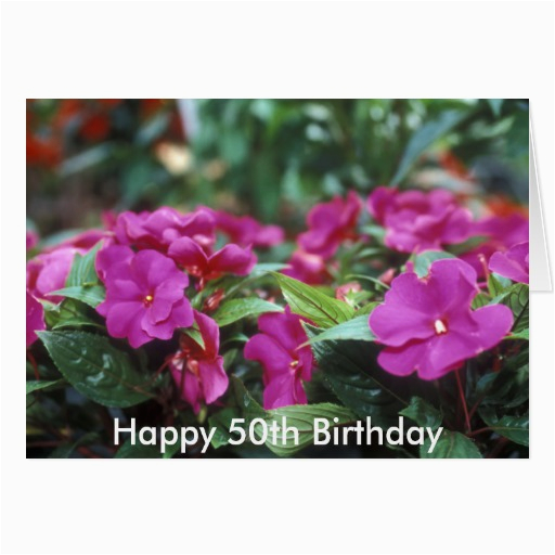 happy 50th birthday flower card zazzle