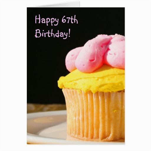 happy 67th birthday muffin greeting card zazzle