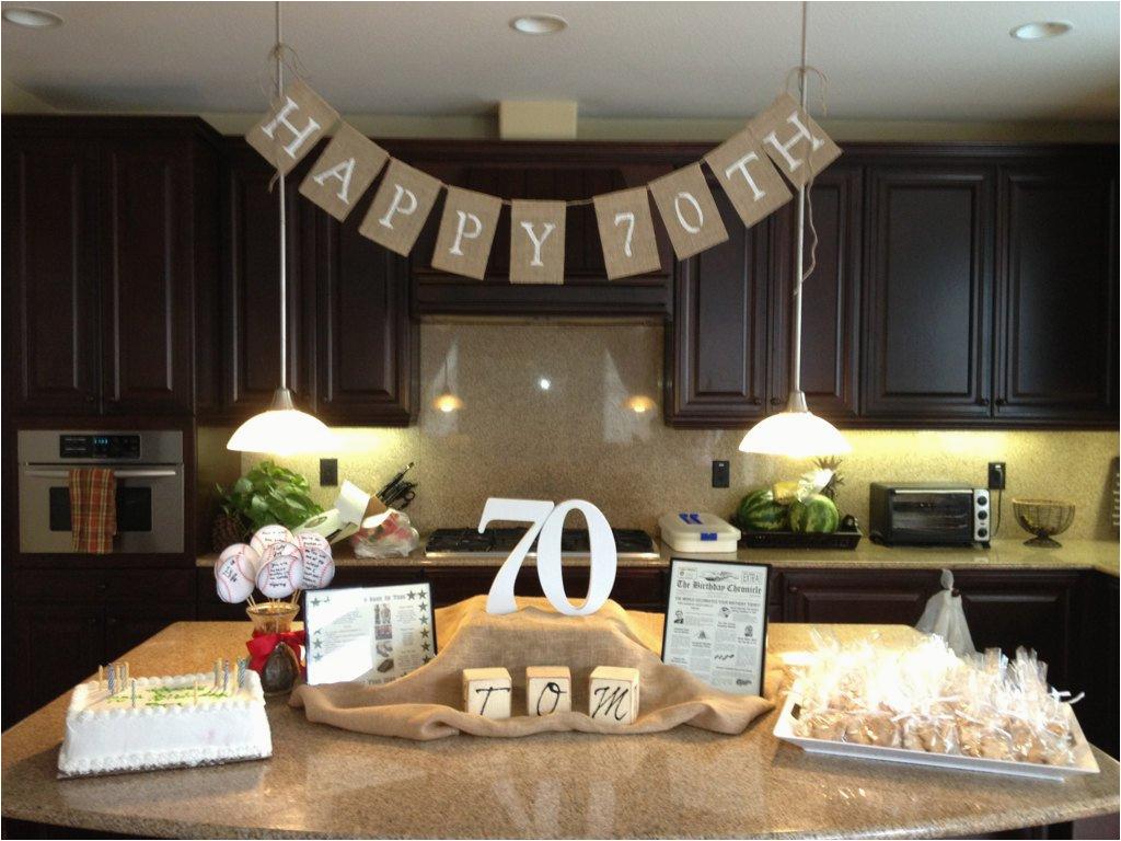 happy 70th birthday burlap banner photo