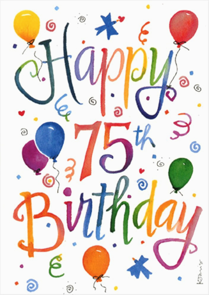 Happy 75th Birthday Cards Wishes For Seventy Five Year Old