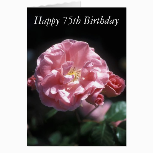 happy 75th birthday flower card 137042909064994467