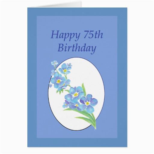 happy 75th birthday forget me not flower card 137166789492783979
