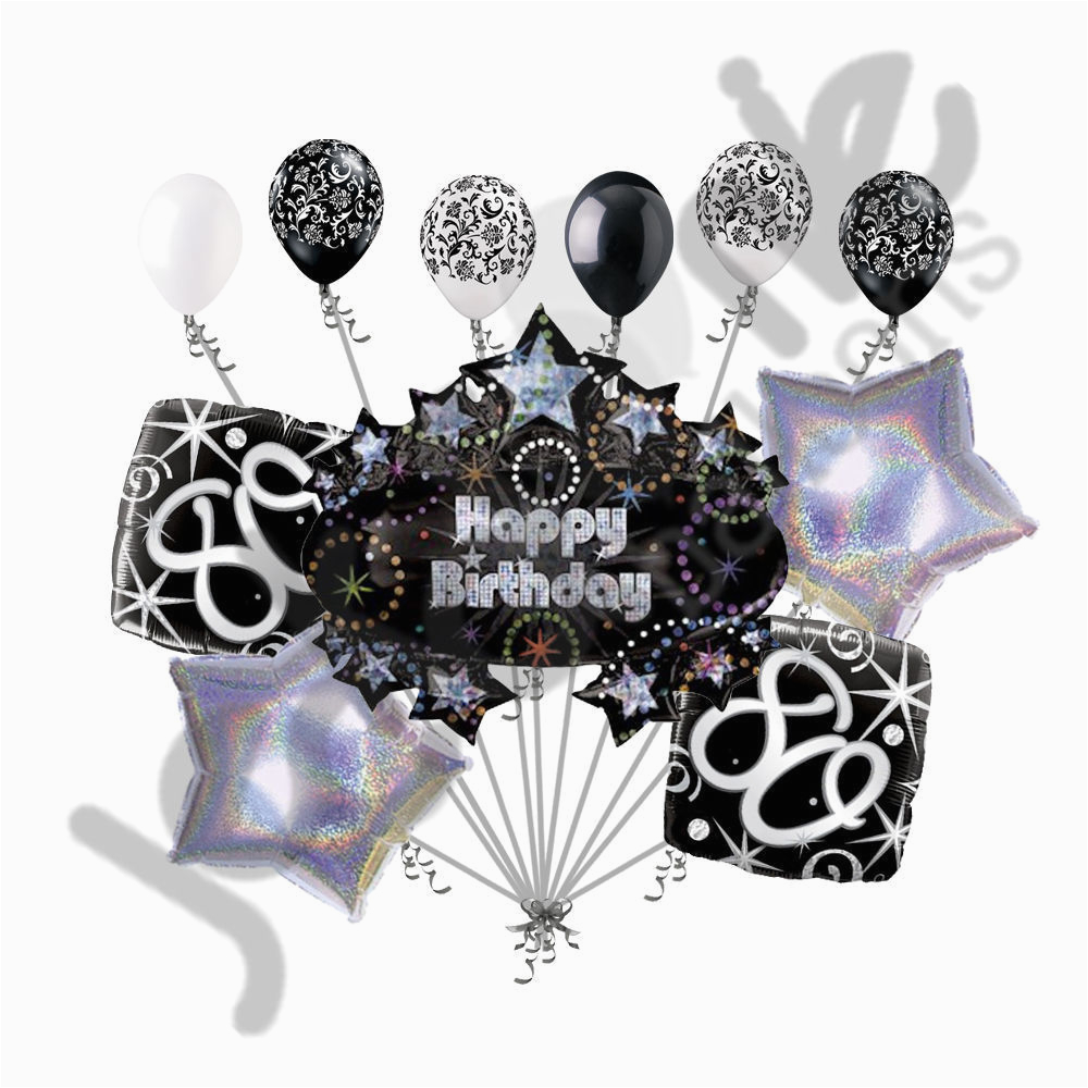 Happy 80th Birthday Decorations 11 Pc Balloon Decoration Party Elegant