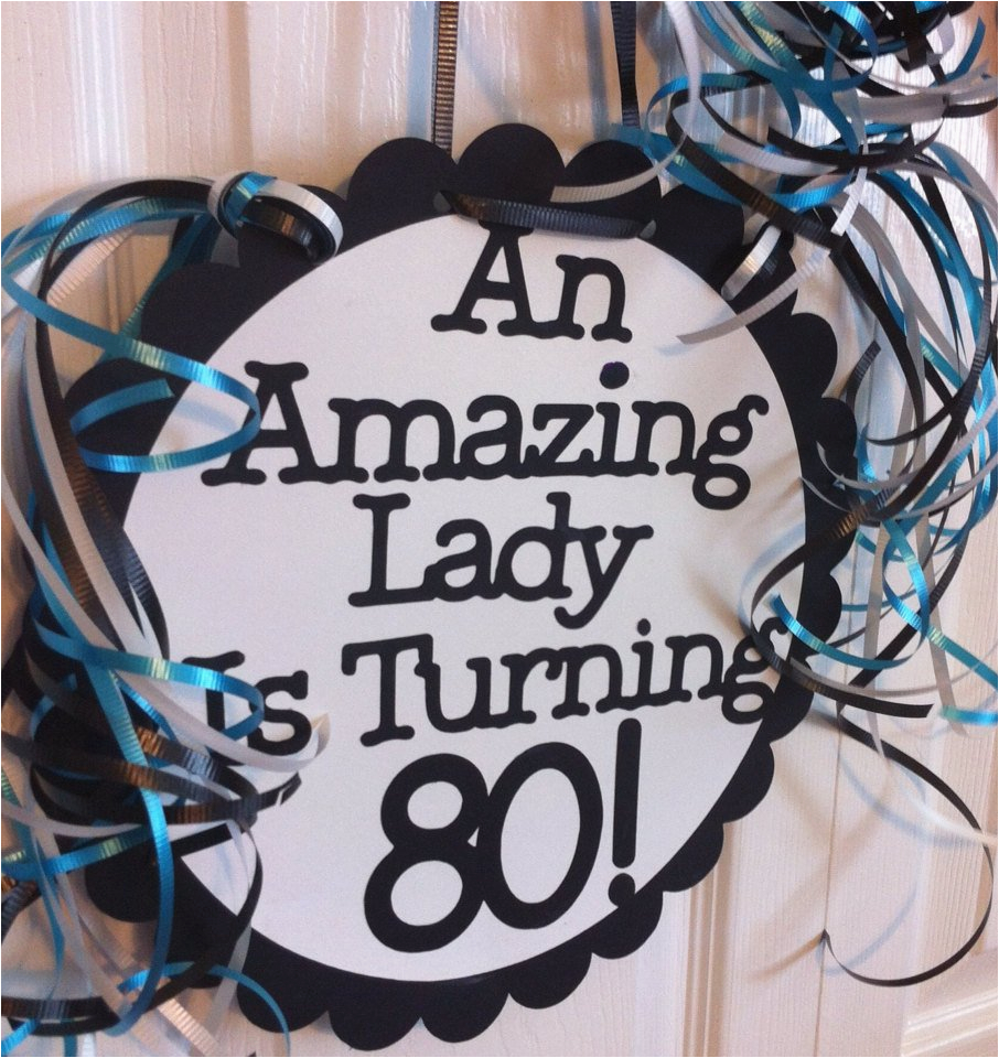 Happy 80th Birthday Decorations Party Favors Ideas