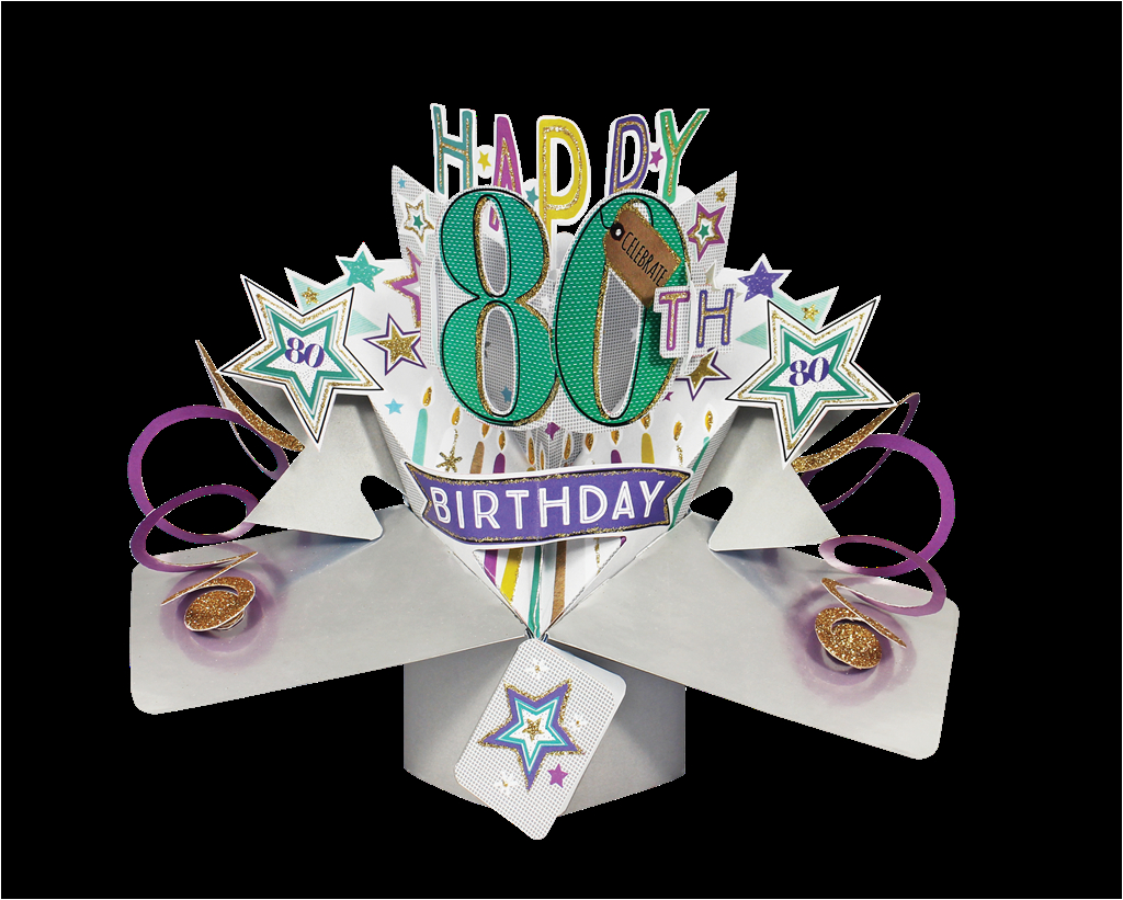 kcsnpop154 happy 80th birthday pop up greeting card original second nature 3d pop up cards