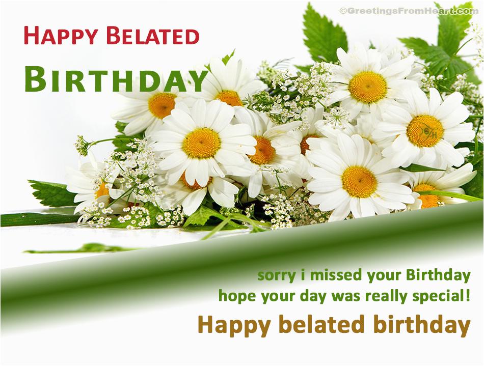 belated happy birthday wishes flowers
