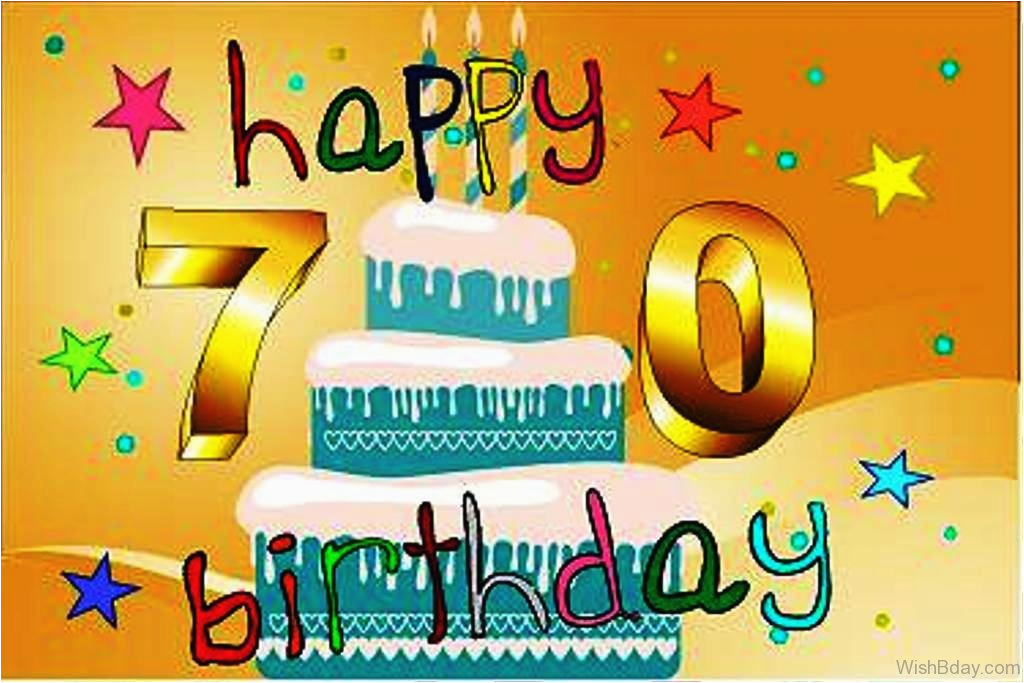 Happy Birthday 70 Years Old Card 85 70th Wishes