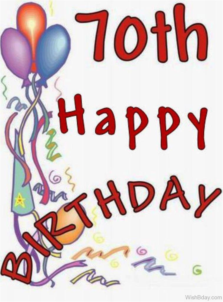 85 70th Birthday Wishes