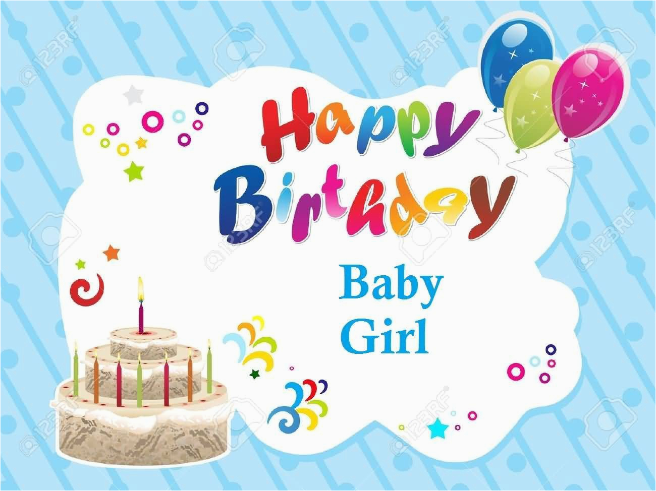 33 cute baby girl birthday wishes pictures