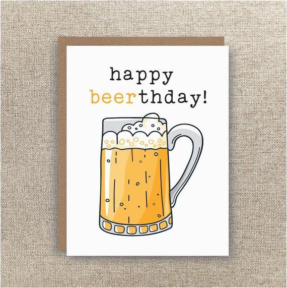 happy beerthday beer card beer birthday