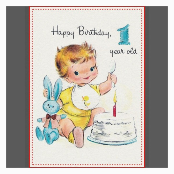 Happy Birthday Card 1 Year Old Wishes For One
