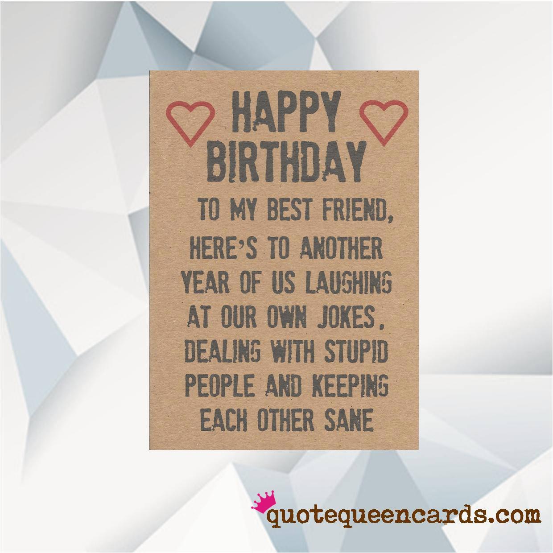 Happy Birthday Best Friend Funny
