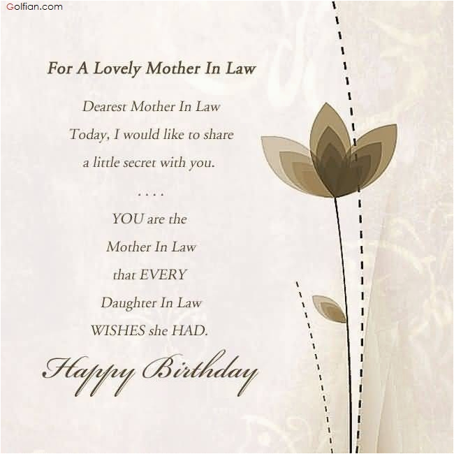 Happy Birthday Card for Mother In Law 60 Beautiful Birthday Wishes for Mother In Law Best