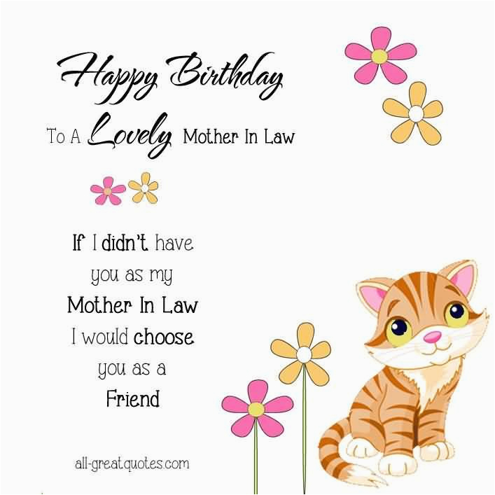 Happy Birthday Card For Mother In Law Sweet Greetings Wishes Quotes