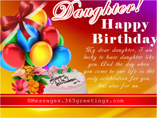 Happy Birthday Card For My Daughter Wishes 365greetings Com