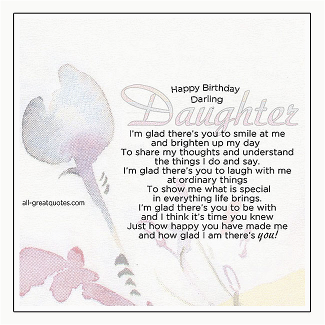 Happy Birthday Darling Daughter Free Cards For