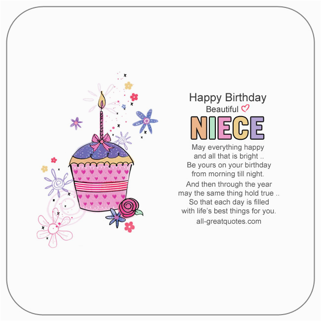 niece birthday wishes to write in a birthday card