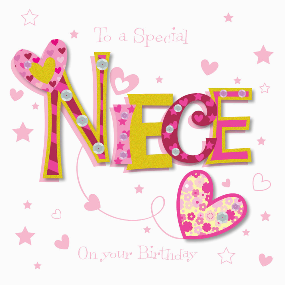 special niece happy birthday greeting card cards