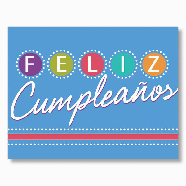 Happy Birthday Card In Spanish to Print Birthday Lights Spanish Birthday Card