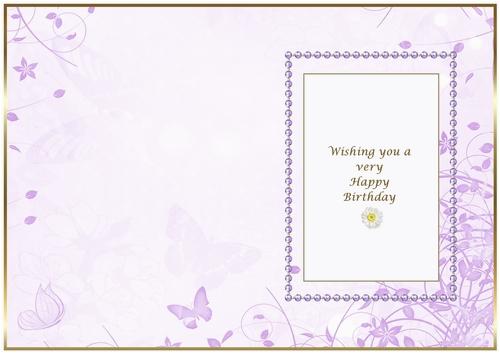 soft lavender floral insert cfm