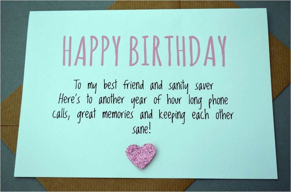 Best Friend Birthday Card Besties Funny Humour