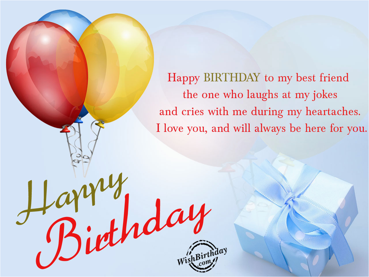 Happy Birthday Card To My Best Friend Wishes For Images Pictures