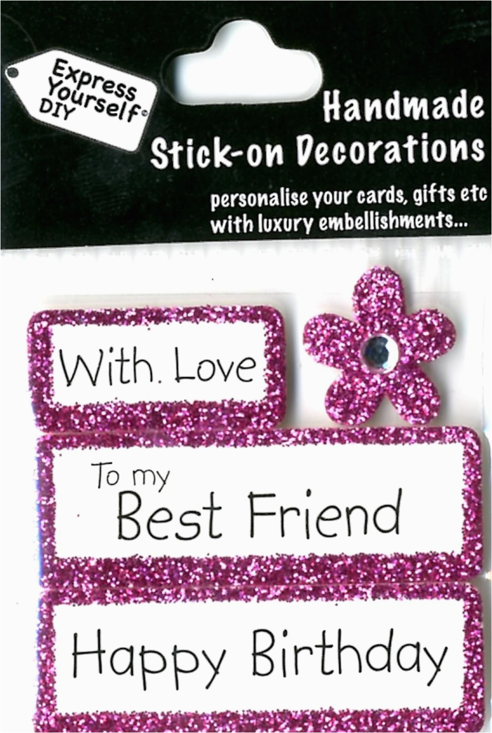 happy birthday best friend diy greeting card toppers