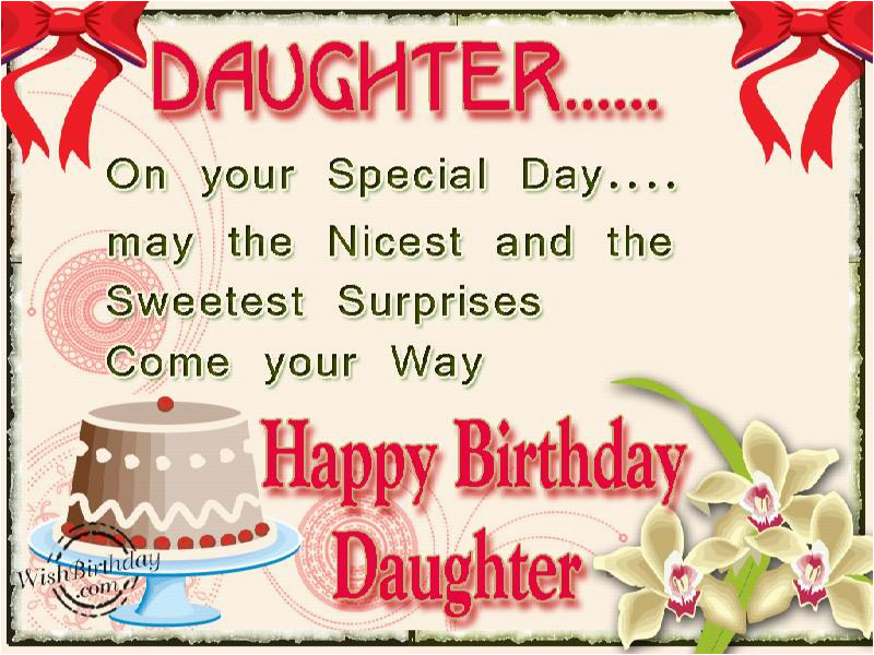 Happy Birthday Card To My Daughter Wishes For Messages And Quotes