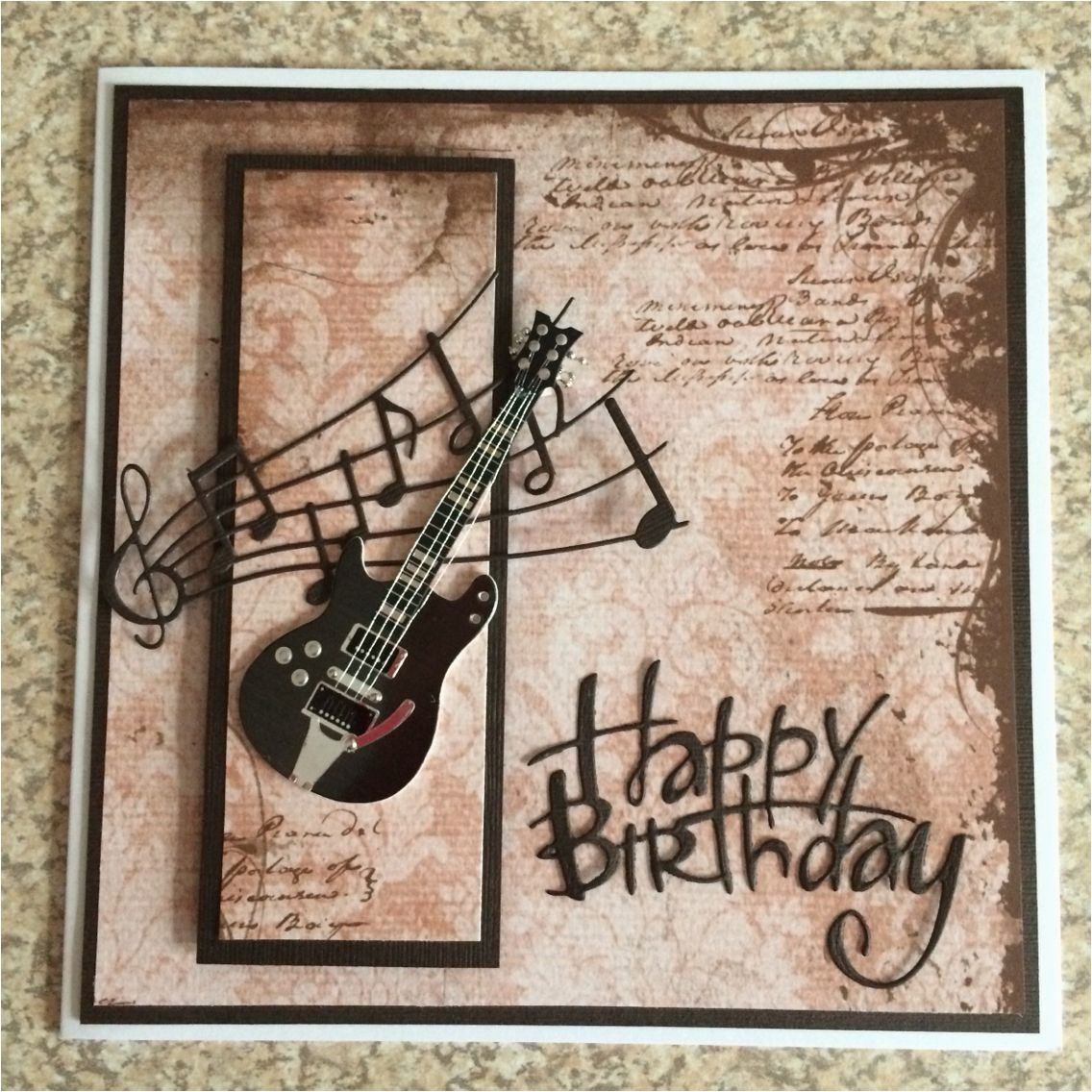 Happy Birthday Card With Photo And Music Guitar Greetings Cards