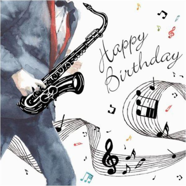 birthday card happy birthday saxophone by twizler 3235 p