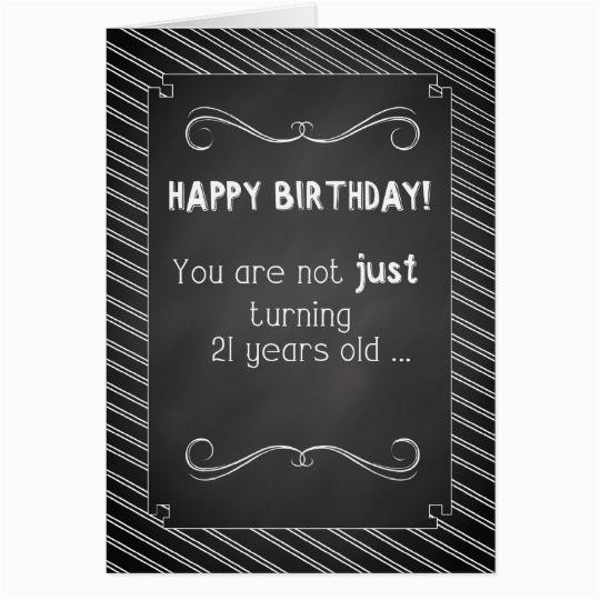 21 year old happy birthday chalkboard look card zazzle