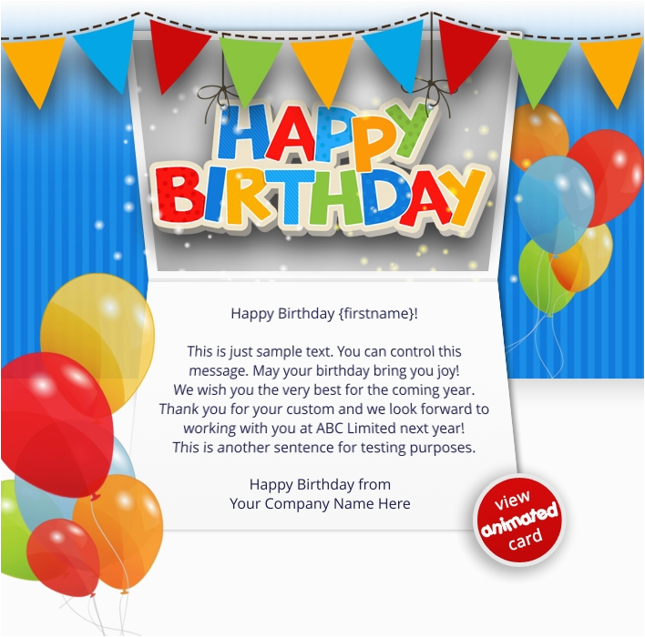 Happy Birthday Cards Email Corporate Ecards Employees Clients