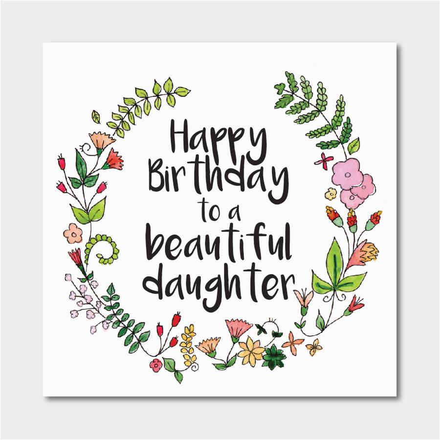 Floral Birthday Card For Daughter
