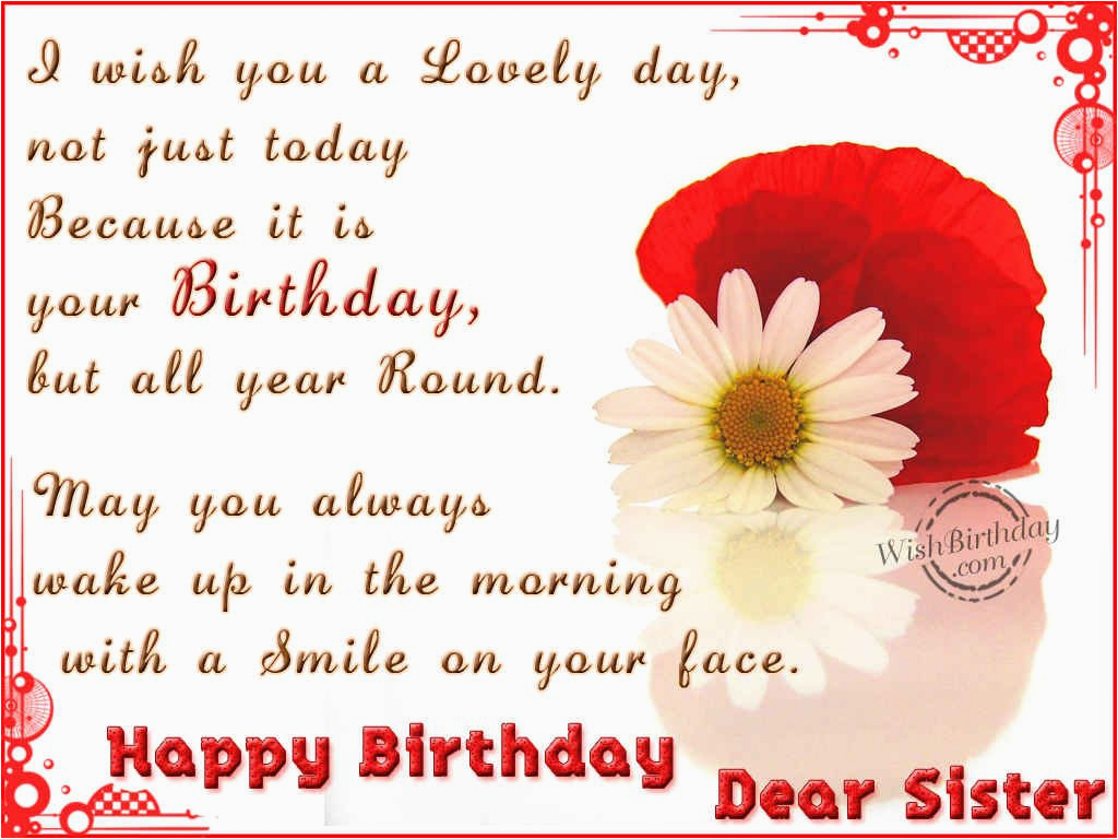 Happy Birthday Cards For A Sister Wishes Images Pictures