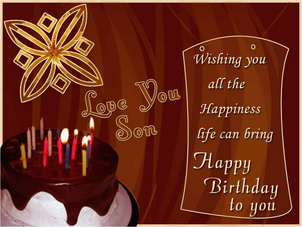 Happy Birthday Cards For A Son Wishes In Law Images Pictures