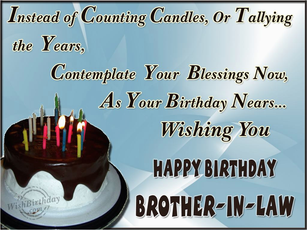 Happy Birthday Cards For Brother In Law Quotes Quotesgram