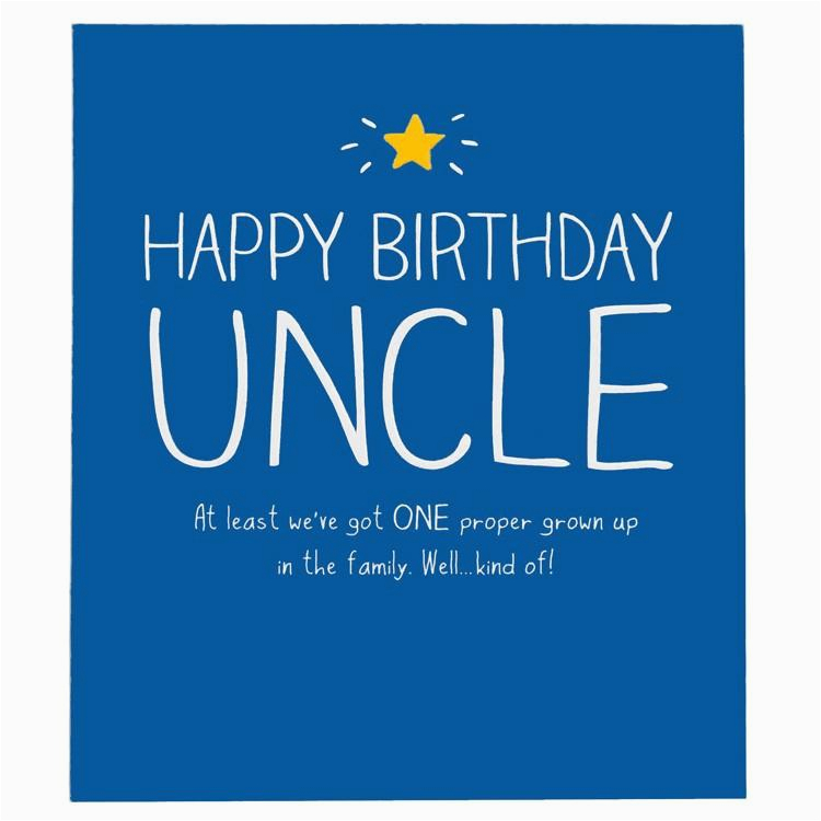 Happy Birthday Cards For My Uncle Jackson One Proper Grown Up Card