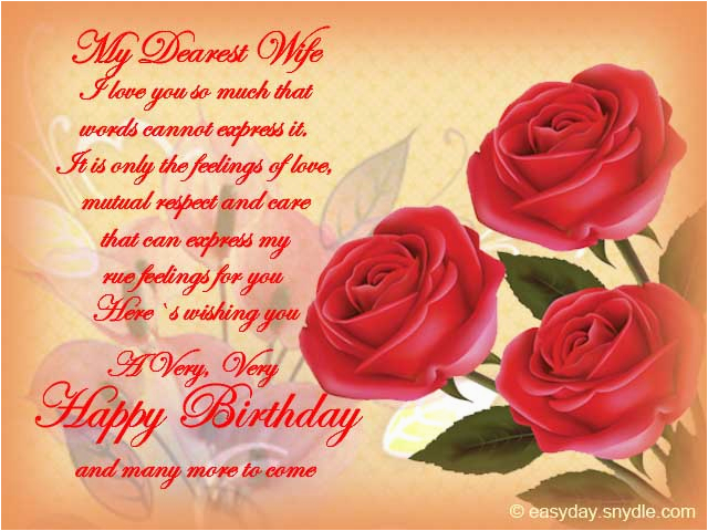 Happy Birthday Cards For Your Wife Wishes Easyday