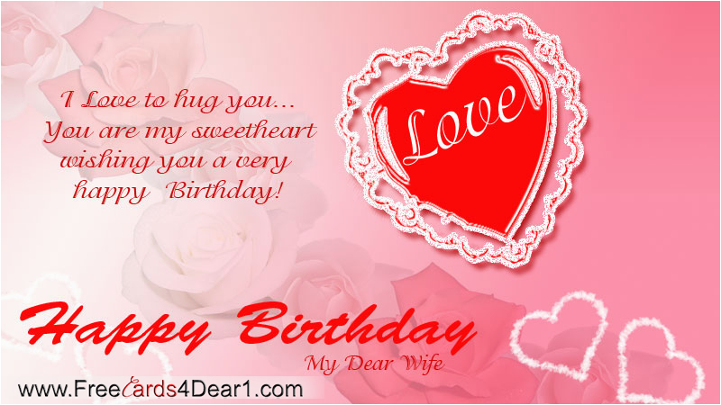 birthday greeting card for wife