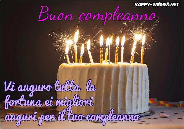 Happy Birthday Wishes Italian