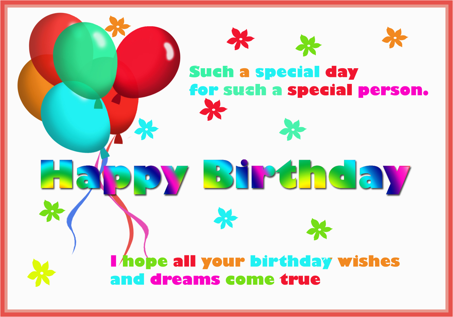 Happy Birthday Card For You