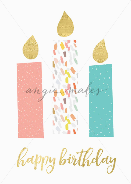cute printable happy birthday card with candles