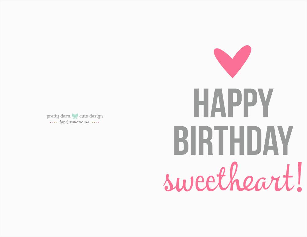 happy birthday card printable pretty darn cute design