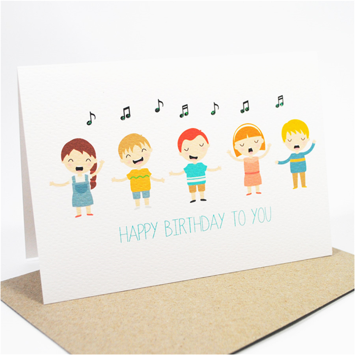 Happy Birthday Cards That Sing Card Kids Singing Hbc169